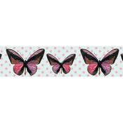Rose Gold Octagons & Butterflies - Little B Decorative Foil Tape 25mmX10m