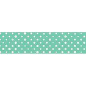 Silver Foil & Mint Polka Dots - Little B Decorative Foil Tape 25mmX10m