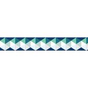 Blue & Green W/Silver Foil Hexagons - Little B Decorative Foil Tape 15mmX10m