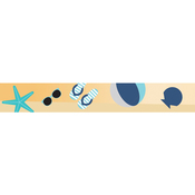 Teal Beach Icons - Little B Decorative Foil Tape 15mmX10m