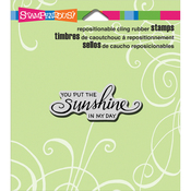 """Scrolled Sunshine - Stampendous Cling Stamp 4.75""""X4.5"""""""