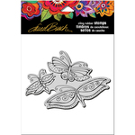 "Flutterbye Trio - Stampendous Laurel Burch Cling Stamp 6.5""X4.5"""