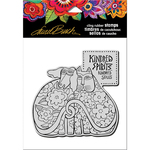 "Kindred Spirits - Stampendous Laurel Burch Cling Stamp 6.5""x4.5"""