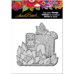 "Lion With Bird - Stampendous Laurel Burch Cling Stamp 6.5""x4.5"""