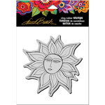 "Sister Sun - Stampendous Laurel Burch Cling Stamp 6.5""x4.5"""