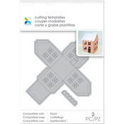 Small Mini House, 2pcs - Momenta Die Cutting Templates