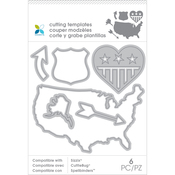 Arrow Map 6pcs - Momenta Die Cutting Templates