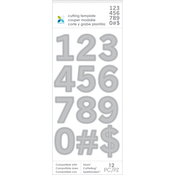 Numbers - Momenta Die Cutting Templates