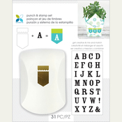 Banner/Serif Alphabet - Momenta Punch & Stamp Set