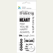 "Bravery - Momenta Clear Stamps 2.75""X7.5"""