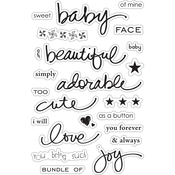 """Baby Face - Momenta Clear Stamps 4""""X7.5"""""""