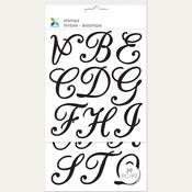 "Script Alphabet - Momenta Clear Stamps 4.75""X9.25"""