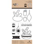 Succulents - Art-C Stamp & Die Set