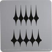 "Brasilia 4 - Donna Mibus Mid-Century Stencils 8""X8"""