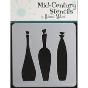 "Decanters - Donna Mibus Mid-Century Stencils 8""X8"""