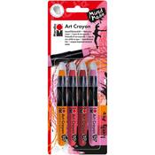 Lovely Red - Pink, Orange & Reds - Marabu Creative Art Crayon Set 4/Pkg