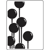 "Balloons - Embossing Folder 4.25""X5.75"""