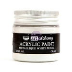 White Pearl Metallique Acrylic Paint - Art Alchemy - Prima