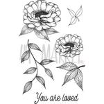 "Valerie's You Are Loved - 49 & Market Clear Stamps 4""X6"""