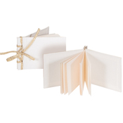 """Mini Ribbon Album Ivory 2.5""""X3.5"""" Make 3 - Books By Hand Designed By Me Blank Cover Bookbinding Kit"""