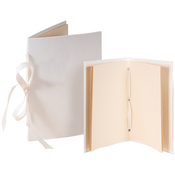 Tibetan Book, Ivory 4.25x6.5 & 5x7.5 - Books By Hand Designed By Me Blank Cover Bookbinding Kit
