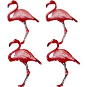 Flamingo - Eyelet Outlet Shape Brads 12/Pkg