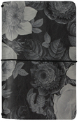 Black Vintage Floral Travelers Notebook - Carpe Diem - Simple Stories