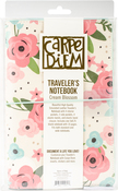 Cream Blossom Travelers Notebook - Carpe Diem - Simple Stories