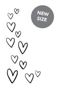 Floating Hearts Black Planner Decal - Small