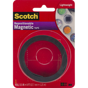 ".5""X4' - Scotch Repositionable Magnetic Tape"