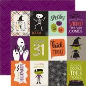 3 x 4 Journaling Card Paper - Halloween Town - Echo Park