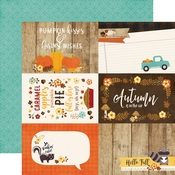 4 x 6 Journaling Card Paper - A Perfect Autumn - Echo Park