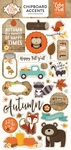 A Perfect Autumn Chipboard Stickers - Echo Park