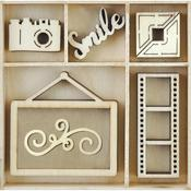 Snapshot Mini Wooden Flourishes 25/pkg - Kaisercraft