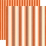 Pumpkin Stripe Paper - Dots & Stripes Fall 2017 - Echo Park