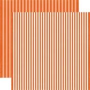 Pumpkin Stripe Paper - Dots & Stripes Fall 2017 - Echo Park