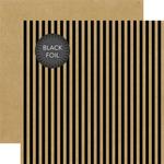 Kraft Stripe Black Foil Paper - Halloween - Echo Park