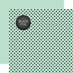 Mint Dot Black Foil Paper - Echo Park
