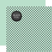 Mint Dot Black Foil Paper - Halloween - Echo Park