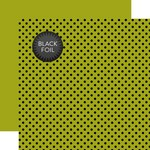 Green Dot Black Foil Paper - Halloween - Echo Park