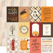 3 x 4 Journaling Card Paper - Hello Fall - Carta Bella