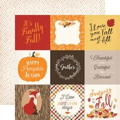 4 x 4 Journaling Card Paper - Hello Fall - Carta Bella