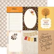 4 x 6 Journaling Card Paper - Hello Fall - Carta Bella