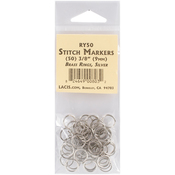 "3/8"" 50/Pkg - Lacis Brass Ring Stitch Markers"