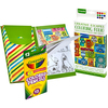 Travel Set - Crayola Coloring Folio W/Colored Pencils & Tablet Crayola-Coloring Folio, Travel Set. This book offers soothing scenes for adults and kids alike to color. The high quality paper is printed on one side only to prevent bleed through. This package contains one folio, one coloring book of thirty-two coloring pages measuring 5X7 inches and twelve colored pencils. Conforms to ASTM D 4236. Imported.