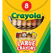 Multicultural 8/Pkg - Crayola Large Washable Crayons