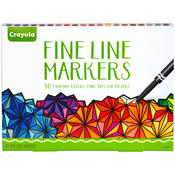 Classic  - Crayola Fine Line Marker Set 40/Pkg
