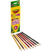 8/Pkg Long - Crayola Multicultural Colored Pencils