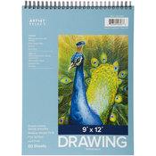 "Wirebound 50 Sheets - Pro Art Drawing Pad 9""X12"""