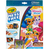 Shimmer & Shine - Crayola Color Wonder Glitter Set Crayola-Color Wonder Glitter Set: Shimmer and Shine. Great for travel with kids! Markers only color on this special paper (not skin, fabric, or furniture.) This 8.75X11.5X.75 inch package contains twelve glitter pages and five markers. WARNING: Choking Hazard. Not suitable for children under 36 months. Conforms to ASTM D4236. Imported.